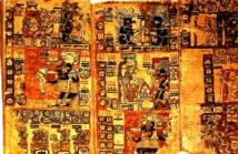 Códice maya de Madrid. Fuente: Wikipedia.
