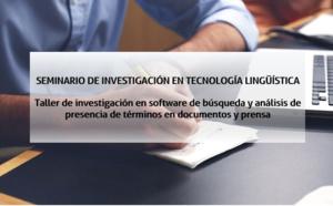 SEMINARIO DE INVESTIGACIÓN EN TECNOLOGÍA LINGÜÍSTICA