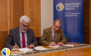 Firma del convenio de la creación del Nodo Chile de la Cátedra en Tecnologías Lingüísticas
